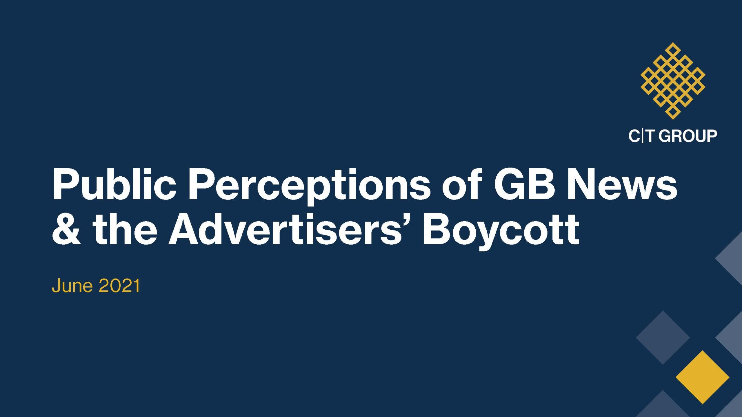 Public Perceptions of GB News and the Advertisers' Boycott